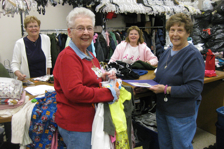 "Volunteering at Nu2u on Wednesdays, is a group of women who call themselves the ""Wednesday Wonders."""