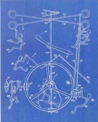 Blueprint of Gordon Bradt's 6-man clock