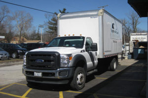 This TWC truck is used to make Nu2u deliveries and pickup large donations