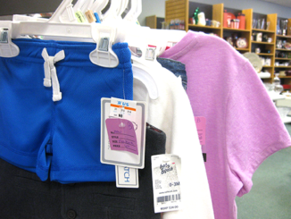 Some infant and toddler merchandise at Nu2u is new and never used - the retailer price tags are still attached.