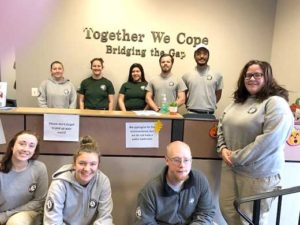 Members of Americorp were here to help on Wed. Oct. 2